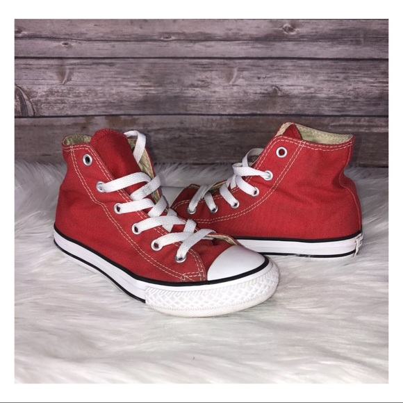 79d35962eeb221 Converse Other - Converse Chuck Taylor Hi Tops Red Size 1 Kid Shoes